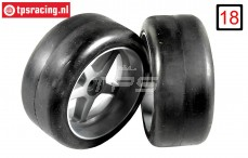 FG6416/09 1/6 Slicks M1 Extra Soft glued W60 mm, 2 pcs.