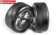 FG Slick Soft tires on rims, (Ø145-B63 mm), 2 pcs.
