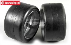 FG Slick Soft tires on rims, (Ø145-B80 mm), 2 pcs.