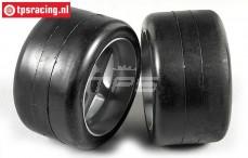 FG Slick Soft tires on rims, (Ø145-B80 mm), 2 pcs.