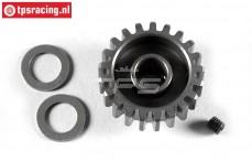 FG6433/21 Steel gear 21T wide, (Ø10-B12 mm), 1 pc