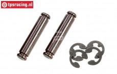 FG6477/03 Wheelhub pin rear with clip, 2 pcs