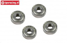 FG66255 Ball Bearing Tension rol Ø6-Ø15-H5 mm, 4 pcs.