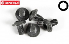 FG6717/16 Button Head Screw M6-L10 mm, 5 St.
