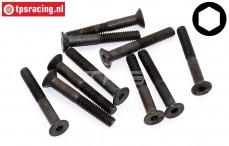FG6720/30 Countersunk Head Screw M4-L30 mm, 10 pcs