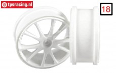 FG67205 1/6 Rim 10-Spoke White Ø130-B65 mm, 2 pcs.