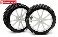 Tire, (FG Mini Pin Evo/MC, Gleud on white rim, Ø170-B65), (Soft, 2 pcs.