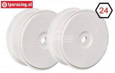 FG67215 1/6 Disk Rim Tire Safe White Ø130-B65 mm, 2 pcs.