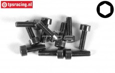 FG6724/10 Socket Head Screw M3-L10 mm, 10 pcs