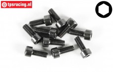 Cap Head Hex Screw FG (M4-L10 mm), 10 pcs