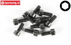 Cap Head Hex Screw FG (M4-L12 mm), 10 pcs