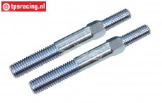 FG67267 Steel threaded rod, (M8/M10 L/R-L39 mm), 2 pcs