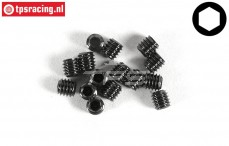 FG6729/04 Grub Screw M4-L4 mm, 15 pcs