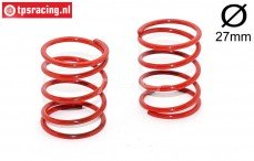 FG67313 Shock spring red Ø2,5-L40 mm, 2 pcs.