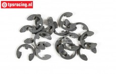 FG6732/04 E-clip spring steel Ø4 mm, 15 pcs