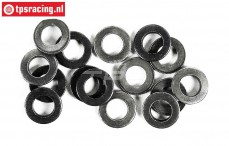 FG6734/06 Steel washer Ø6,4-Ø9-H1,0 mm, 15 pcs.