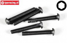 FG6736/40 Button Head Screw M6-L40 mm, 10 pcs