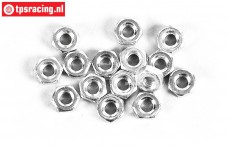 FG6739/03 Steel Nut M3R, 15 pcs