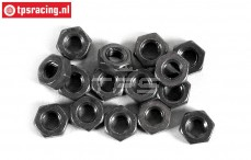 FG6739/04 Steel locking Nut M4R, 15 pcs