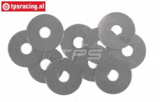 FG6743 Steel Shim washer Ø5-Ø17-H0,1 mm, 10 pcs.