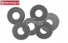 FG6744 Steel Shim washer Ø8-Ø20-H0,1 mm, 10 pcs.