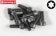 Torx normale kop (M4-L12 mm), (Staal), 10 St.