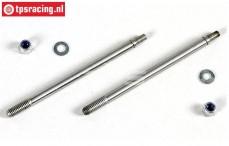 FG7091/02 Threaded Shock piston rod long, 2 pcs.