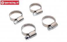 FG7119 Steel Hose clamp Ø16-27 mm, 4 pcs.