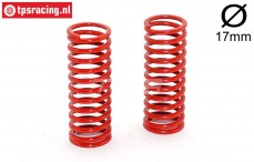 FG7183 Shock spring Red Ø2,4-L58 mm, 2 pcs.
