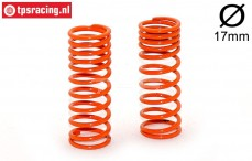 FG7192 Shock spring progressive Orange Ø2,2-L58 mm, 2 pcs.