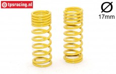FG7193 Shock spring progressive Yellow Ø2,3-L58 mm, 2 pcs.