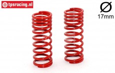 FG7194 Shock spring progressive red Ø2,4-L58 mm, 2 pcs.