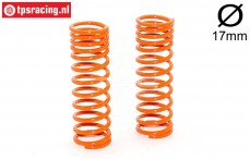 FG7196 Shock spring progressive Orange Ø17-L68 mm, 2 pcs.