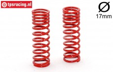 FG7198 Shock spring progressive red Ø2,4-L68 mm, 2 pcs.