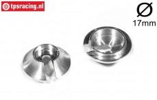 FG7205/07 Alloy Shock spring disk, Ø17 mm, 2 pcs