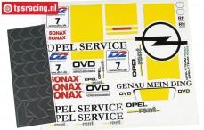 FG7263 Decals Opel V8 opel Service, Set