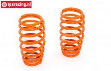 FG7288 Shock spring Orange Ø2,4-L57 mm, 2 pcs.