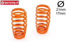 FG7288 Shock spring Orange Ø2,4-L57 mm, 2 pcs.