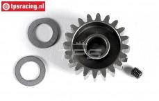 FG7430/20 Anodised alloy gear 20T wide, (Ø10-B12 mm), 1 pc.
