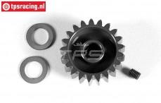 FG7430/21 Anodised alloy gear 21T wide, (Ø10-B12 mm), 1 pc.
