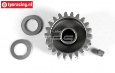 FG7430/22 Anodised alloy gear 22T wide, (Ø10-B12 mm), 1 pc.