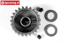 FG7430/24 Anodised alloy gear 24T wide, (Ø10-B12 mm), 1 pc.