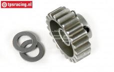 FG7431/21 Steel gear 21T wide, (Ø10-B12 mm), 1 St.