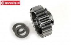FG7431 Steel Gear 22T wide, (Ø10-B12 mm), 1 St.