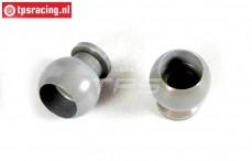 FG7475/02 Aluminium ball joint with coating, 2 pcs.