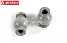 FG7475/04 Aluminium ball joint with coating, 2 pcs.