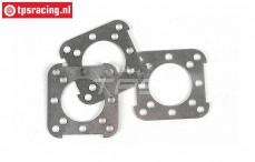 FG8600/03 Outer coupling plates Viscose/Powerlock, 3 pcs