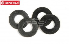 FG8600/13 Steel Shim washer Ø8-Ø16-H0,5 mm, 4 pcs