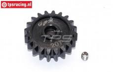 SSB020T-BK Steel gear 20T Super Baja-Rock Rey, 1 pc.