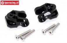 SB009-BK Lower suspension arm holder black Super Baja-Rock Rey, Set